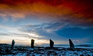 Sundown over the Ring of Brodgar.