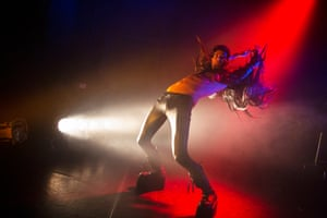 Daniel Hellman performs in Traumboy. Daniel is an artist. He's also a sex worker.