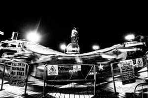 Blackpool funfair by night
