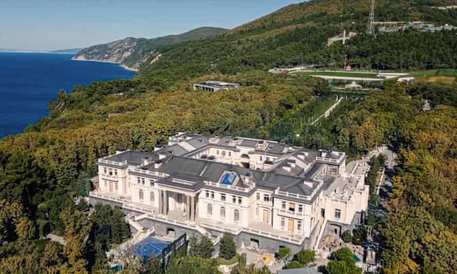 The Black Sea palace that Navalny's team alleges was built for President Vladimir Putin through an elaborate corruption scheme.