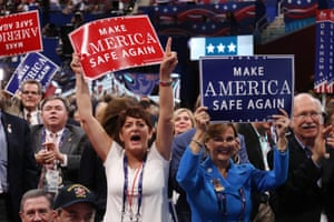 Delegates at the Republican National Convention.