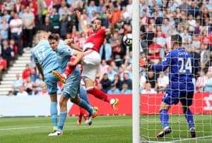 Alvaro Negredo opens his account for Middlesbrough.