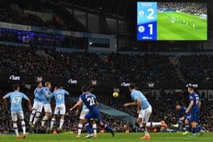 Chelsea's Mason Mount takes a free-kick.