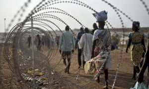Displaced people in South Sudan