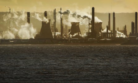 The oil refinery at Grangemouth, Scotland, UK