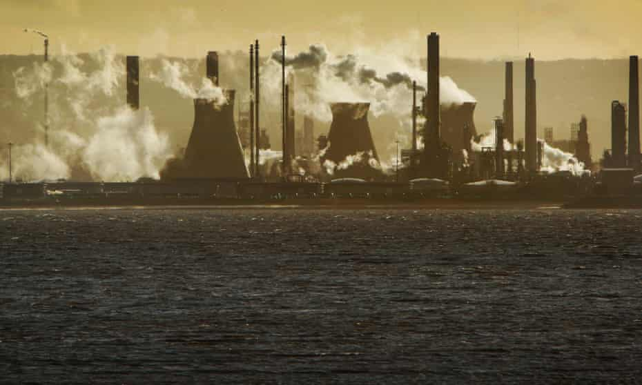 The oil refinery at Grangemouth, Scotland, UK