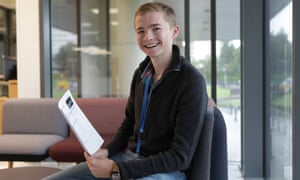 Harry Tait got four A*s, but won't be gracing a university with his smarts. Instead he's off to train as a commercial pilot