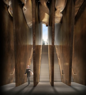 London: Artist's impression showing the entrance of the proposed Holocaust memorial and learning centre