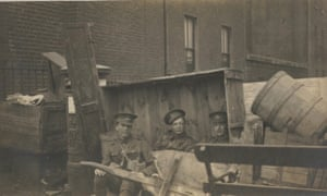 A barricade during the rebellion, 1916
