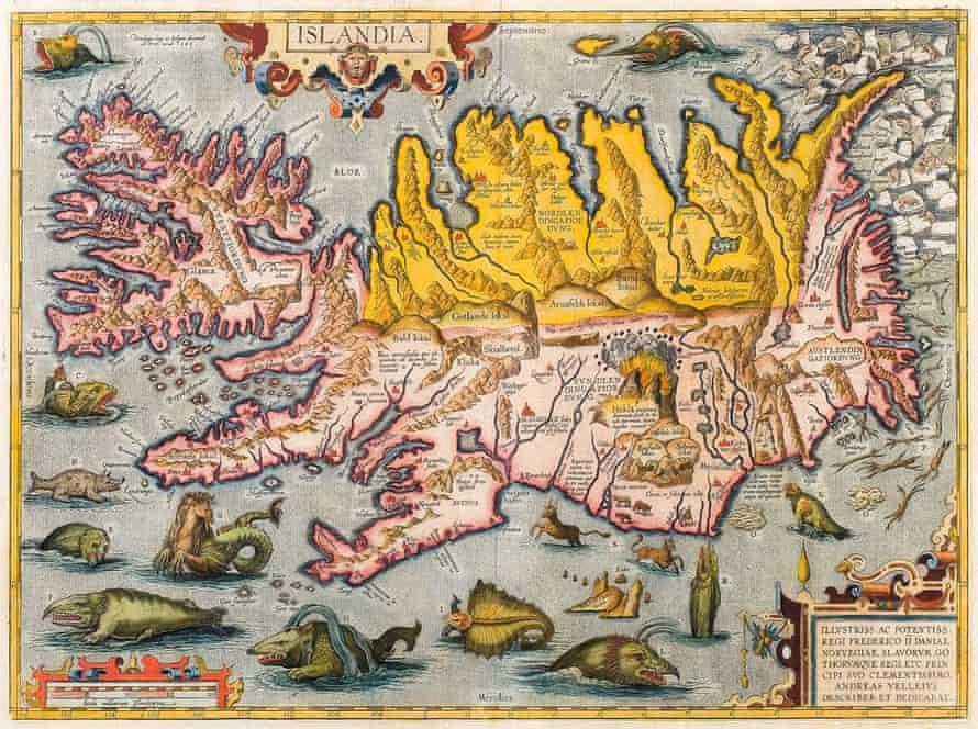 Abraham Ortelius's Islandia, c1590.