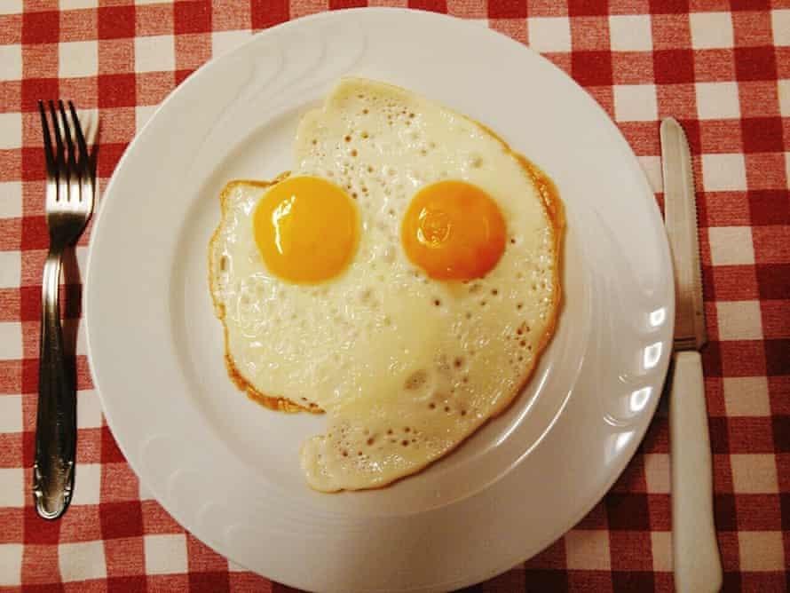 Fried eggs that look like eyes