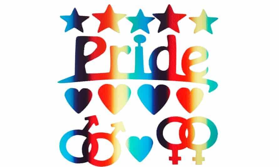 Pride sequin decorations