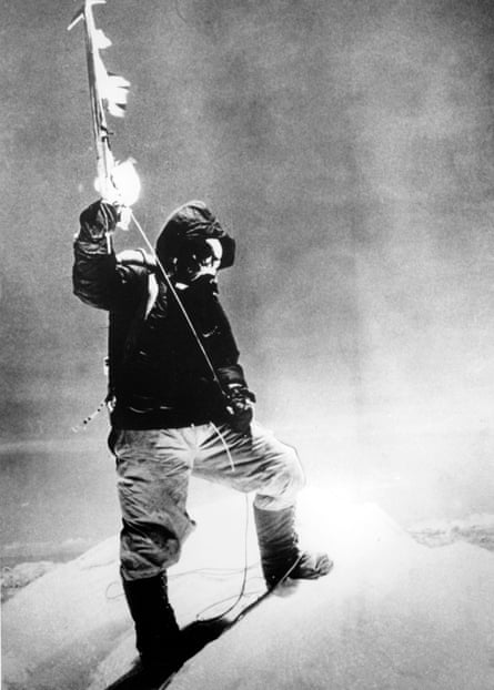 Scoop … Morris's report that Tenzing Norgay (pictured) and Edmund Hillary had conquered Everest was printed on the day of the Queen's coronation in 1953.
