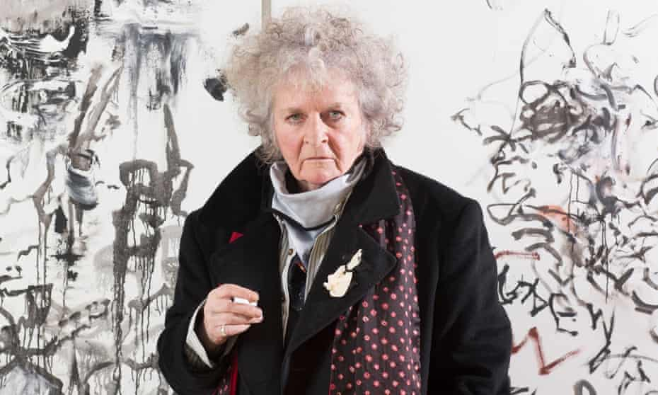 'A subject speaks through me. I'm not in control' … Maggi Hambling at her new show.