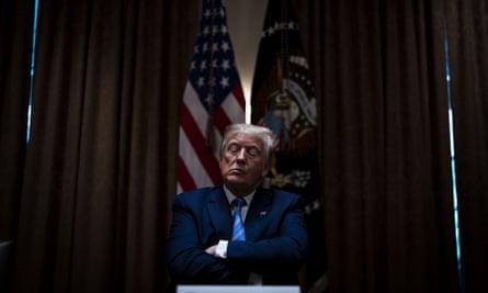 Donald Trump in Washington DC on 15 June 2020.