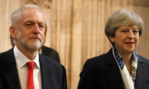 Jeremy Corbyn and Theresa May.