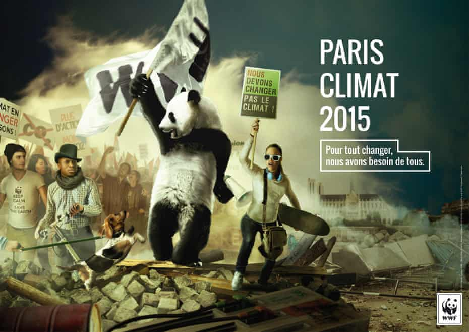 WWF France's poster for the Paris climate talks.
