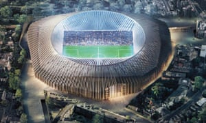 A computer-generated image of what the new Chelsea stadium will look like.