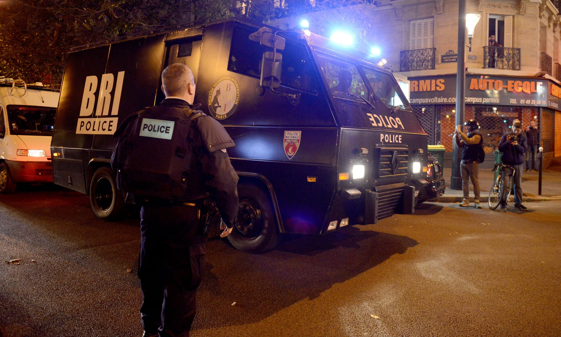 Extra police have been deployed on the streets of Paris tonight - to combat fears over safety.