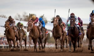 Action on the dirt from day two of the 2015 Breeders' Cup.