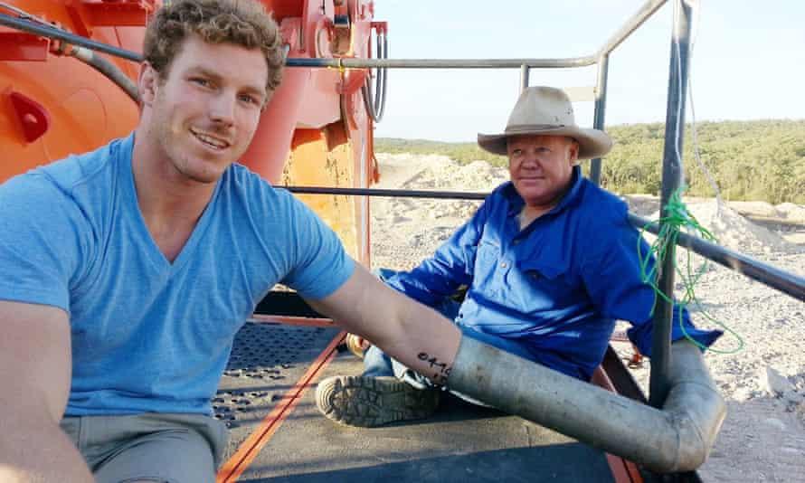 Australia's David Pocock protests against a coal mine