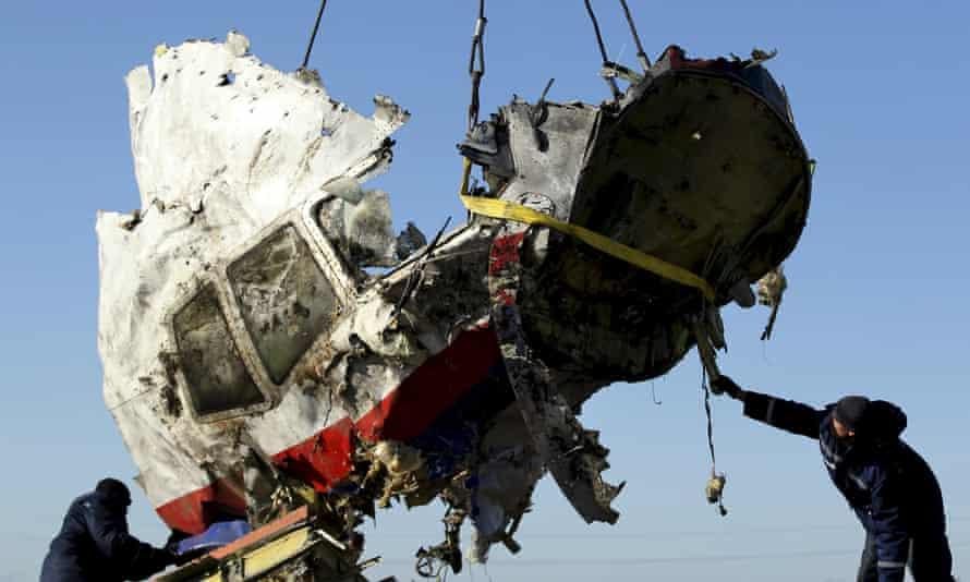 Wreckage from Malaysian airlines flight MH17.