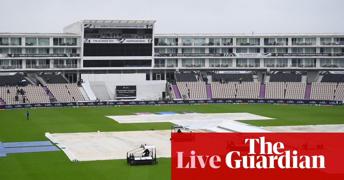 India v New Zealand: day four of World Test Championship final abandoned – as it happened