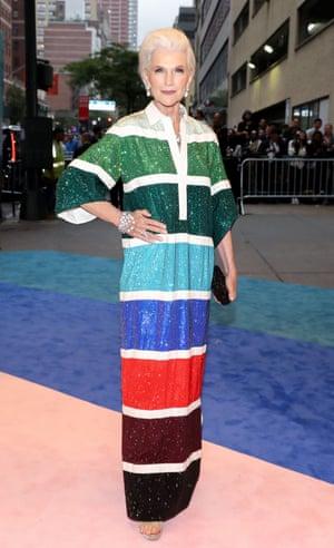 Maye Musk at the CFDA Fashion Awards, New York, this month.