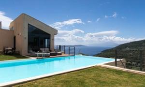 Home & away properties near cliffs, in Lefkada, Greece