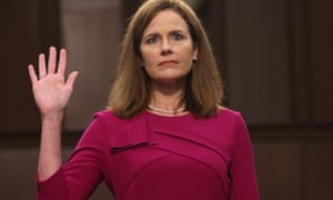 u.s. Washington, d.c. Supreme Court Nominee Confirmation Hearing - 12 Oct 2020<br>Mandatory Credit: Photo by Xinhua/REX/Shutterstock (10951567j) U.S. Supreme Court nominee Amy Coney Barrett is sworn into her Senate Judiciary Committee confirmation hearing  on Capitol Hill in Washington, D.C., the United States, on Oct. 12, 2020. The Republican-led Senate Judiciary Committee on Monday began a four-day confirmation hearing for Judge Amy Coney Barrett, President Donald Trump's Supreme Court nominee, as Republicans push for a final floor vote amidst a raging partisan battle over the open seat at the high court before November 3 Election Day. u.s. Washington, d.c. Supreme Court Nominee Confirmation Hearing - 12 Oct 2020