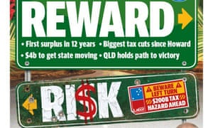 The front page of the Courier Mail following the 2019 budget.