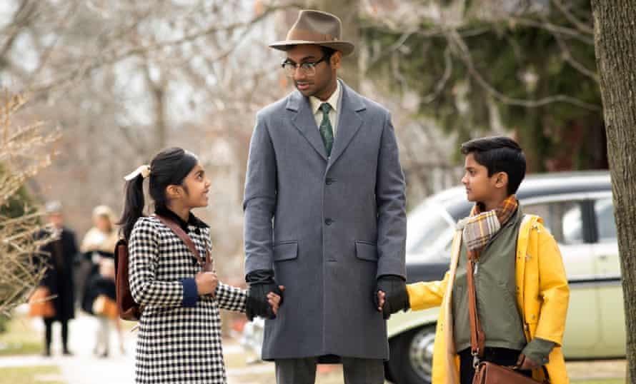 Swayam Bhatia, Aziz Ansari, Anthony Bells in the Netflix original series Master of None.