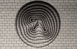 The Aphex Twin logo that appeared at Elephant and Castle station.