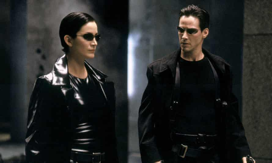 Keanu Reeves and Carrie Anne Moss in The Matrix, 1999.