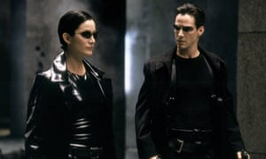 Carrie Ann-Moss and Keanu Reeves in The Matrix
