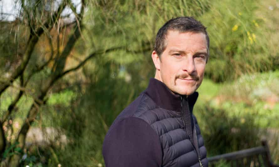 'I'm a proud, proud British taxpayer' … Bear Grylls, with recently grown moustache.