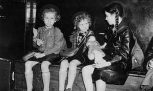 Jewish children arrive at Liverpool Street Station, London, in 1939.