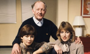 Frank Bough with two of his Breakfast Time co-presenters Debbie Rix (left) and Selina Scott.