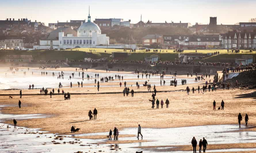 Whitley Bay beach and the Spanish City Dome