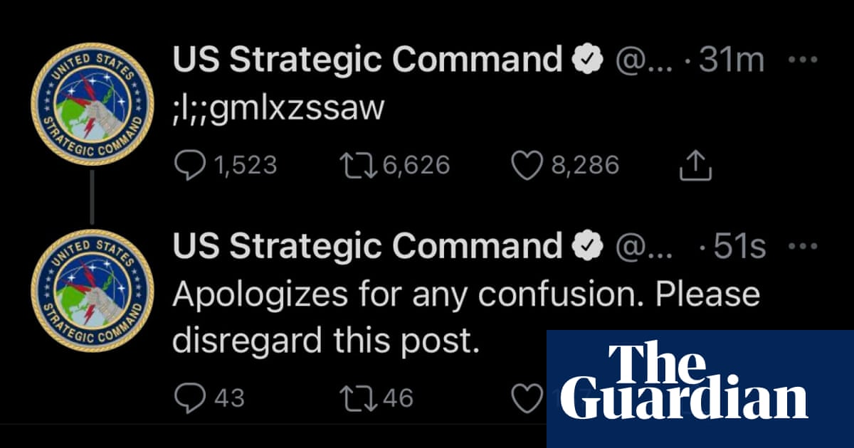 US military account's gibberish tweet prompts viral mystery