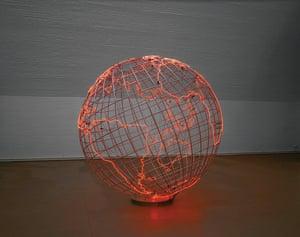 Hot Spot, 2013 by Mona Hatoum  Stainless steel, neon tube