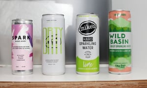 Hard seltzer cans Spark Mixed Berry, Drty White citrus, Mike's hard sparkling water and Wild Basin Boozy Sparkling Water Melon Basil
