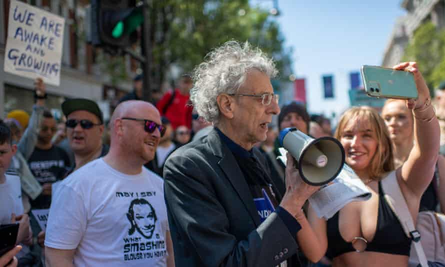 London mayoral candidate Piers Corbyn was on the march.