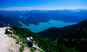 Stunning views of Walchensee from Herzogstand mountain