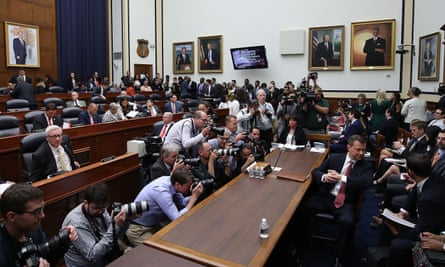 Peter Strzok waits to testify before a joint House committee hearing on Thursday.