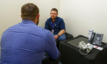 A steroid user speaks to Dr Rhys Evans, a GP, in Newport, Wales.
