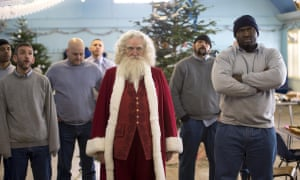 Jim Broadbent (centre) in Get Santa.