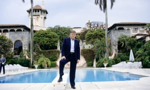 Trump at his Palm Beach gaff, Mar-a-Lago.