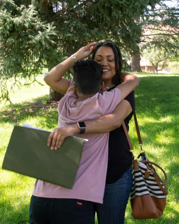 """""""My stomach was in knots every morning,"""" said Nadia McGilbert, with her son, Urijah Salazar. """"I didn't know if he would get hurt in class again."""""""