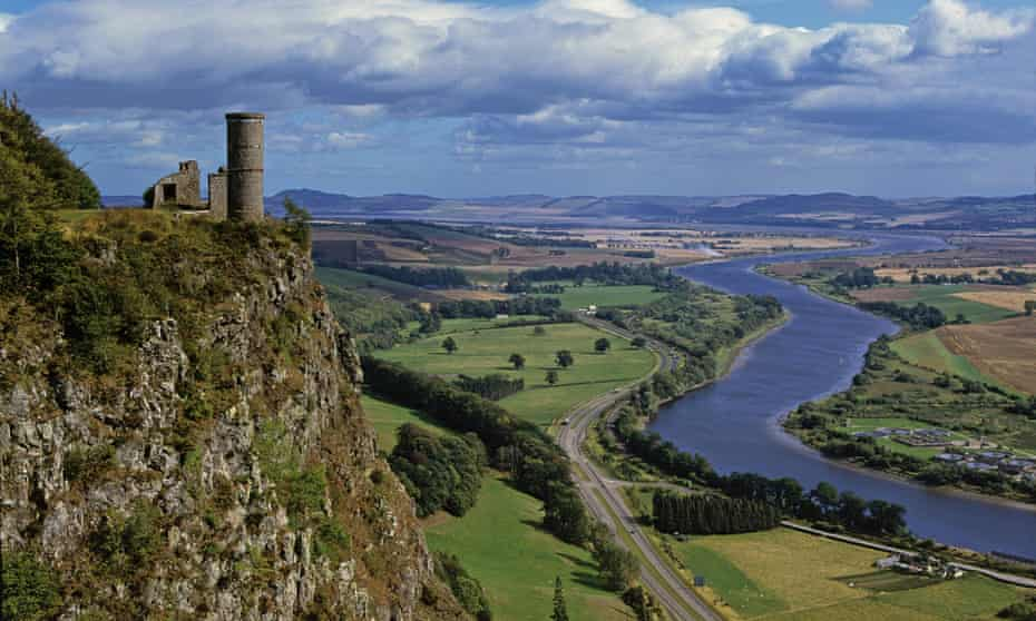 Carse of Gowrie from Kinnoull Hill, near Perth.